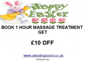 GET £10 OFF THIS EASTER WITH ANY 1 HOUR TREATMENT