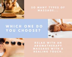 so many types of massage